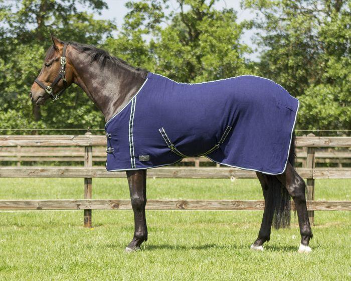 QHP Decke Fleece Basic mit Gurte