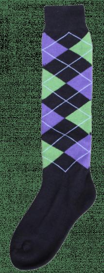 Excellent Kniestrümpfe RE schwarz / links grün / lila 43-46