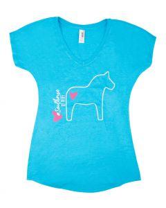 PFIFF T-Shirt mit V-Ausschnitt ´Pferd´