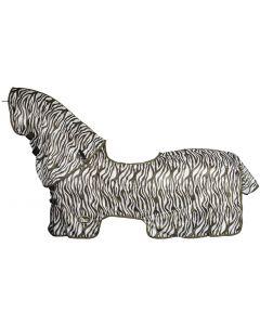 Harry's Horse Flysheet-Netz mit abnehmbarem Hals und Schaffell-Schaffell-lammfell sattelkissenkissen-Bridoon zum Ausziehen