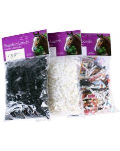 QHP Breite Flechtbänder aus Gummi, 50 g