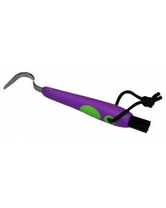 Hofman Fun Hufpickel + Pinsel lila / grün