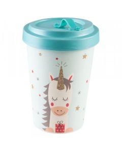 PFIFF Kaffee zum Mitnehmen 'DREAMING UNICORN' Bambus