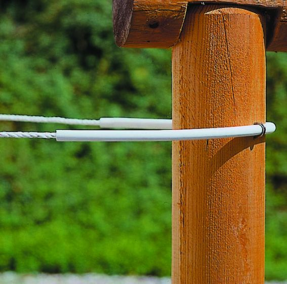 Hofman Isolatorschlauch Flexi weiß bis 8 mm Schnur